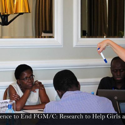 Training workshop for « Evidence to End FGM/C: Research to help Girls and Women Thrive »