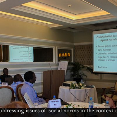 Dr. Mackie addressing issues of social norms in the context of FGM/C